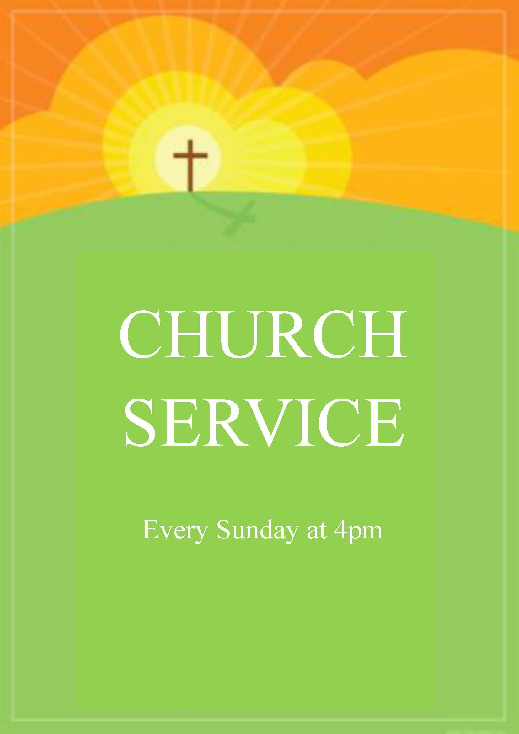 Church service poster