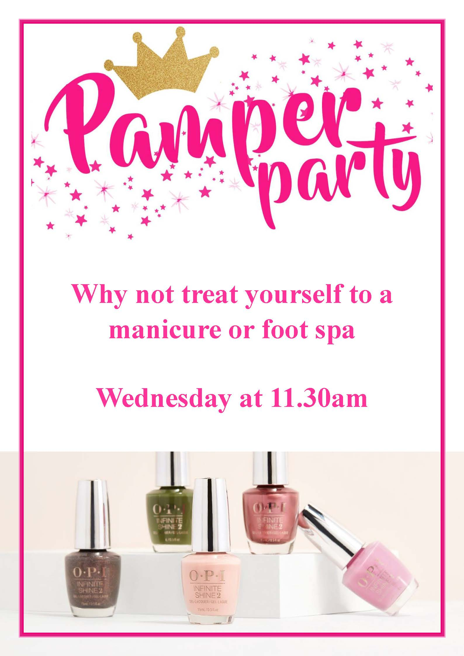 Pamper poster Wednesday